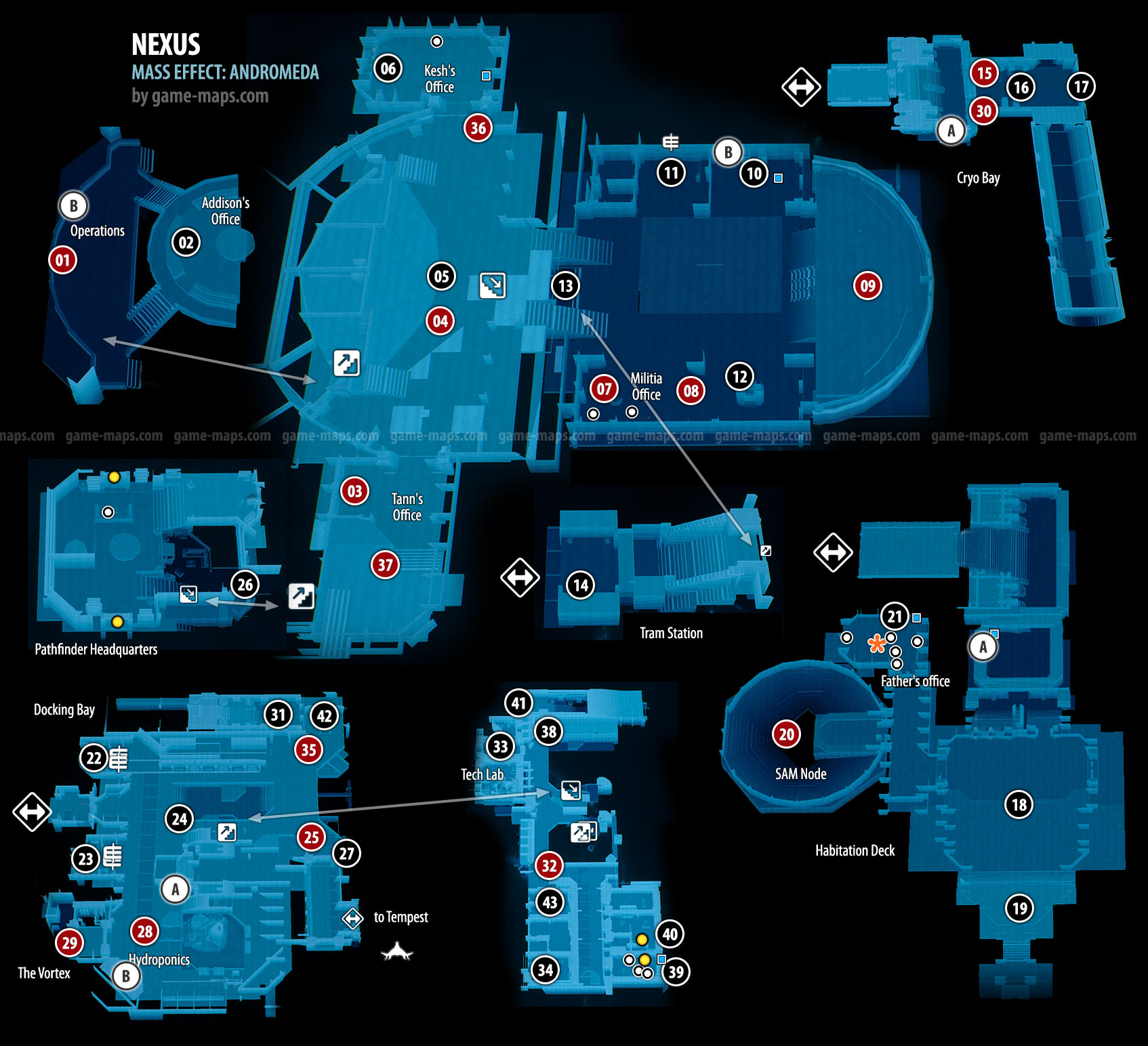 Nexus Mass Effect Andromeda Game Mapscom