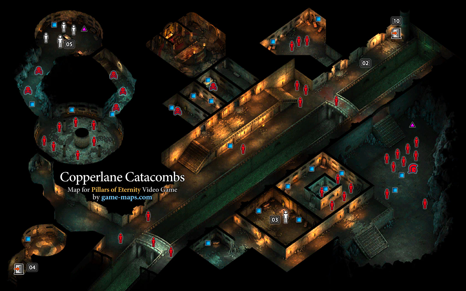 map of copperlane catacombs defiance bay pillars of eternity