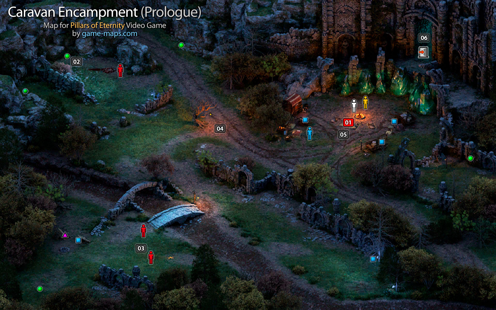 Pillars Of Eternity World Map Complete.Encampment Prologue Pillars Of Eternity Game Maps Com