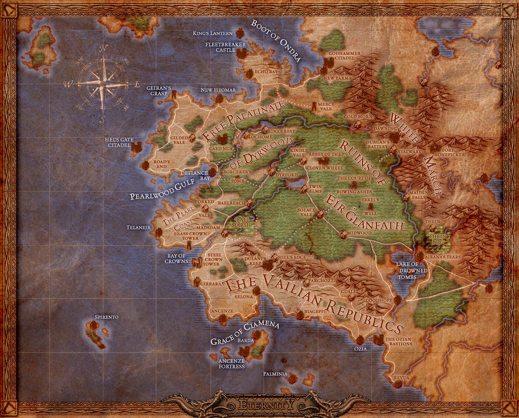 Pillars of Eternity Walkthrough with Maps Game Guide