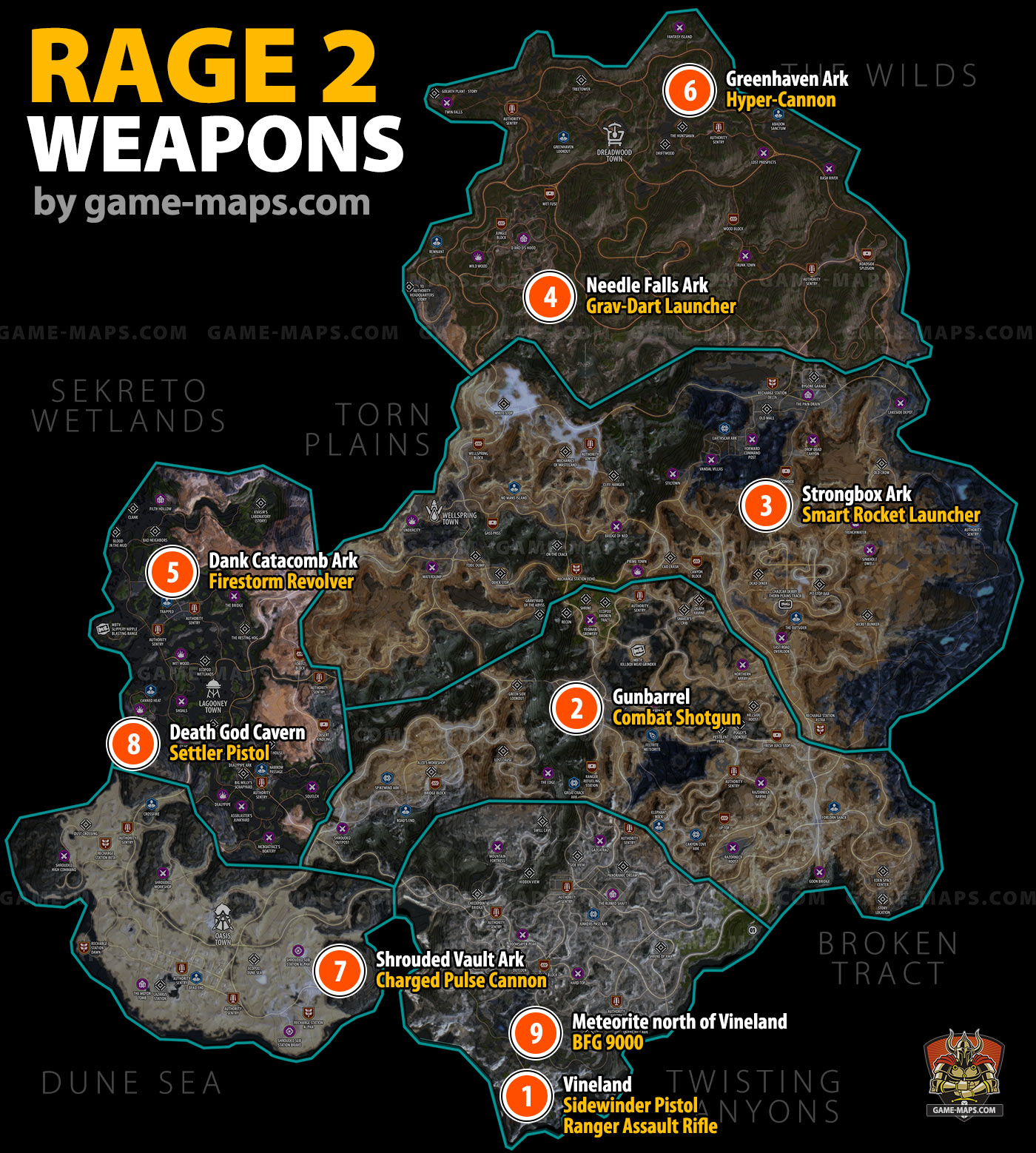 Map 3 Locations.Weapon Locations In Rage 2 Map Game Maps Com