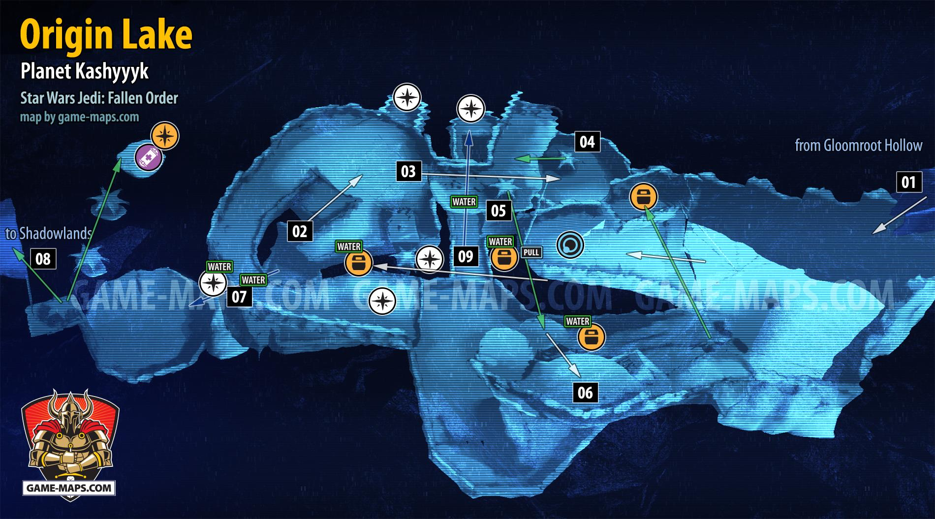 Origin Lake Map Kashyyyk For Star Wars Jedi Fallen Order