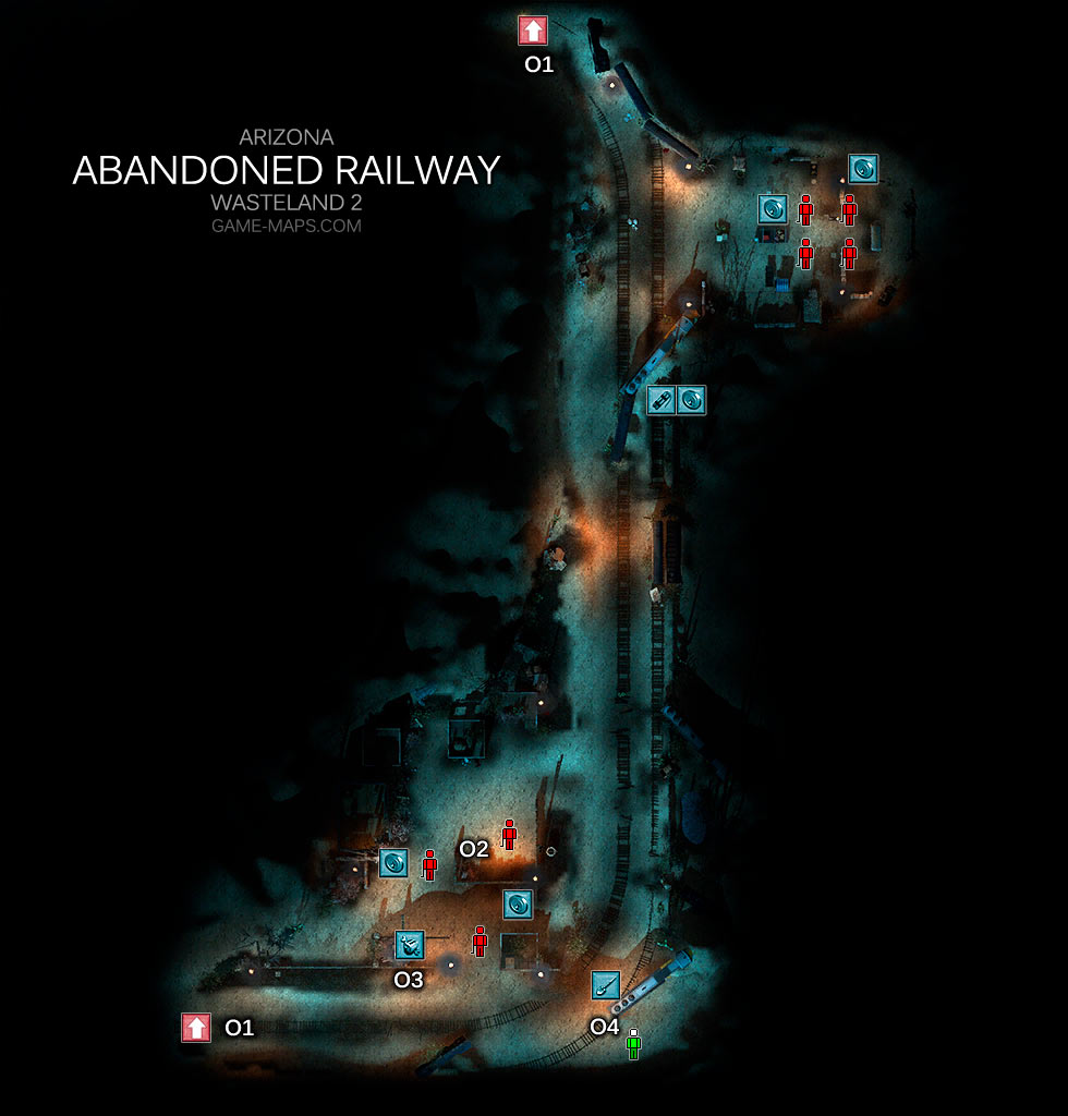 Abandoned Railway Map - Arizona - Wasteland 2