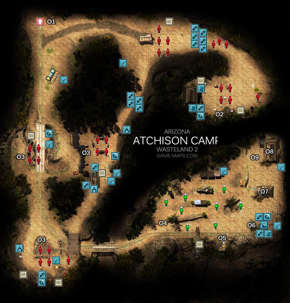 Map Of Arizona Wasteland 2.Atchison Camp Map Arizona Wasteland 2 Game Maps Com