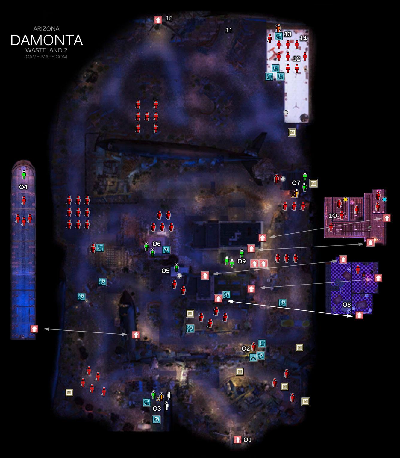 Map Of Arizona Wasteland 2.Damonta Arizona Wasteland 2 Game Maps Com