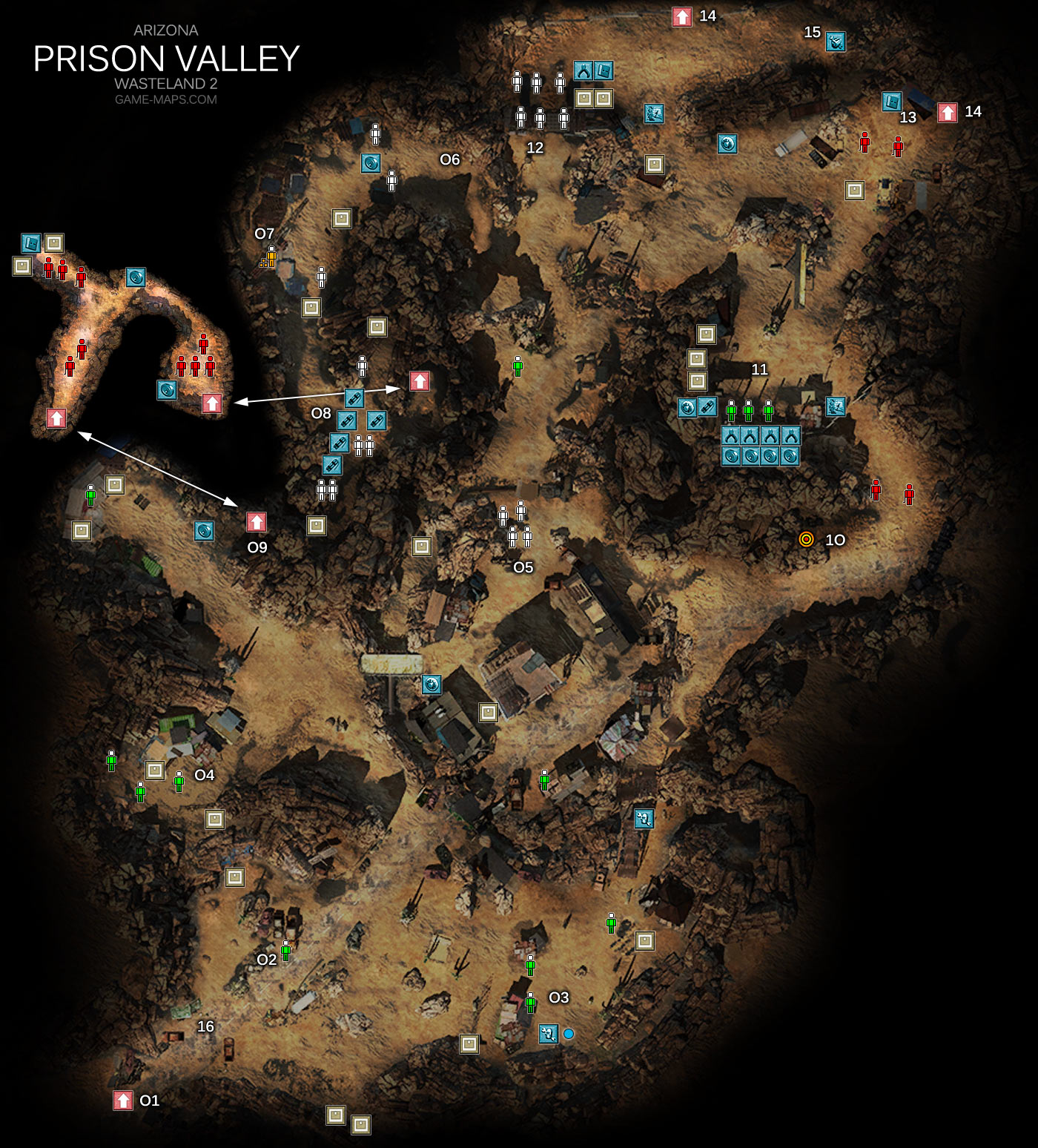 Map Of Arizona Prisons.Prison Valley Map Arizona Wasteland 2 Game Maps Com