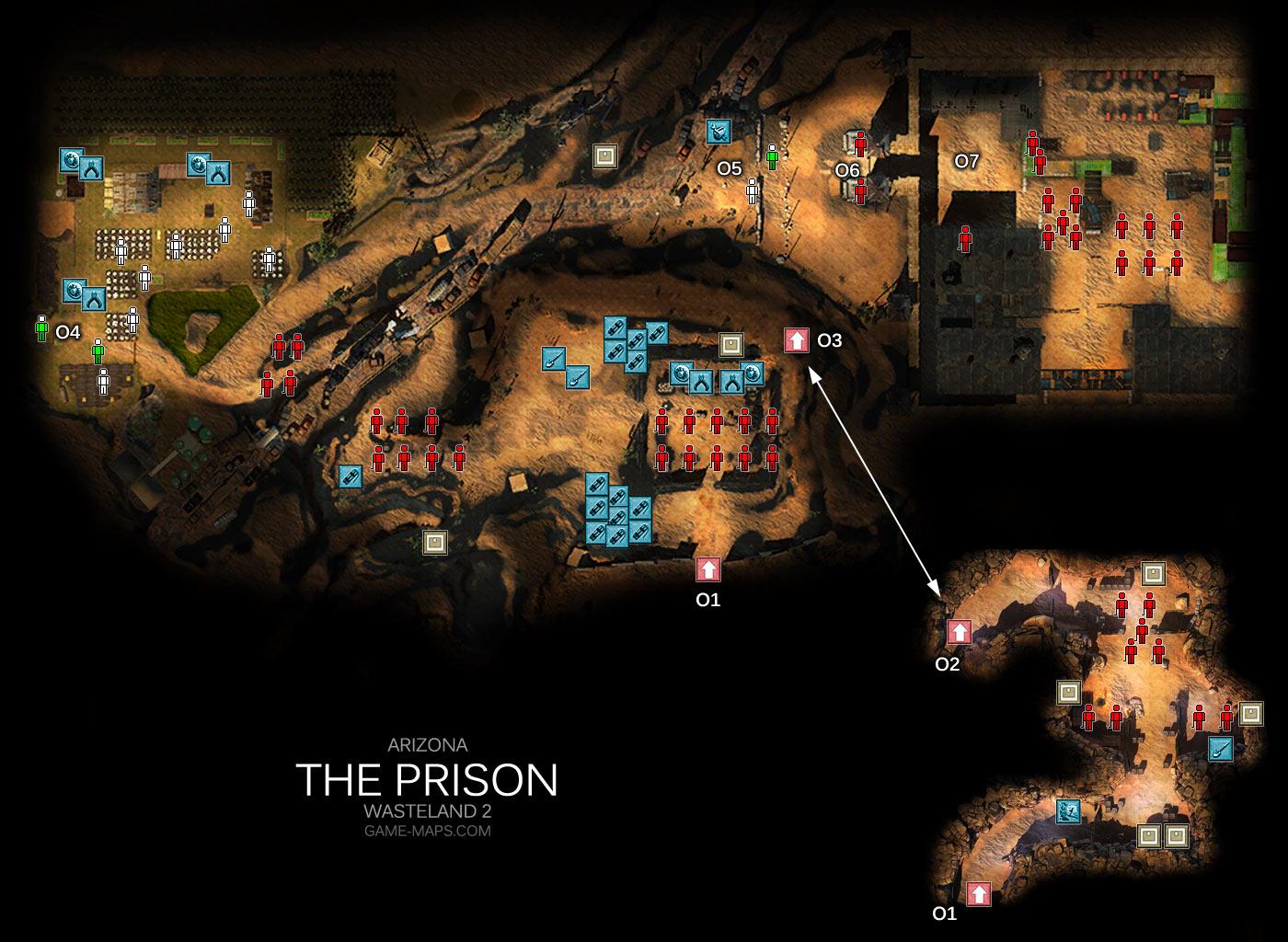 Map Of Arizona Prisons.The Prison Map Arizona Wasteland 2 Game Maps Com