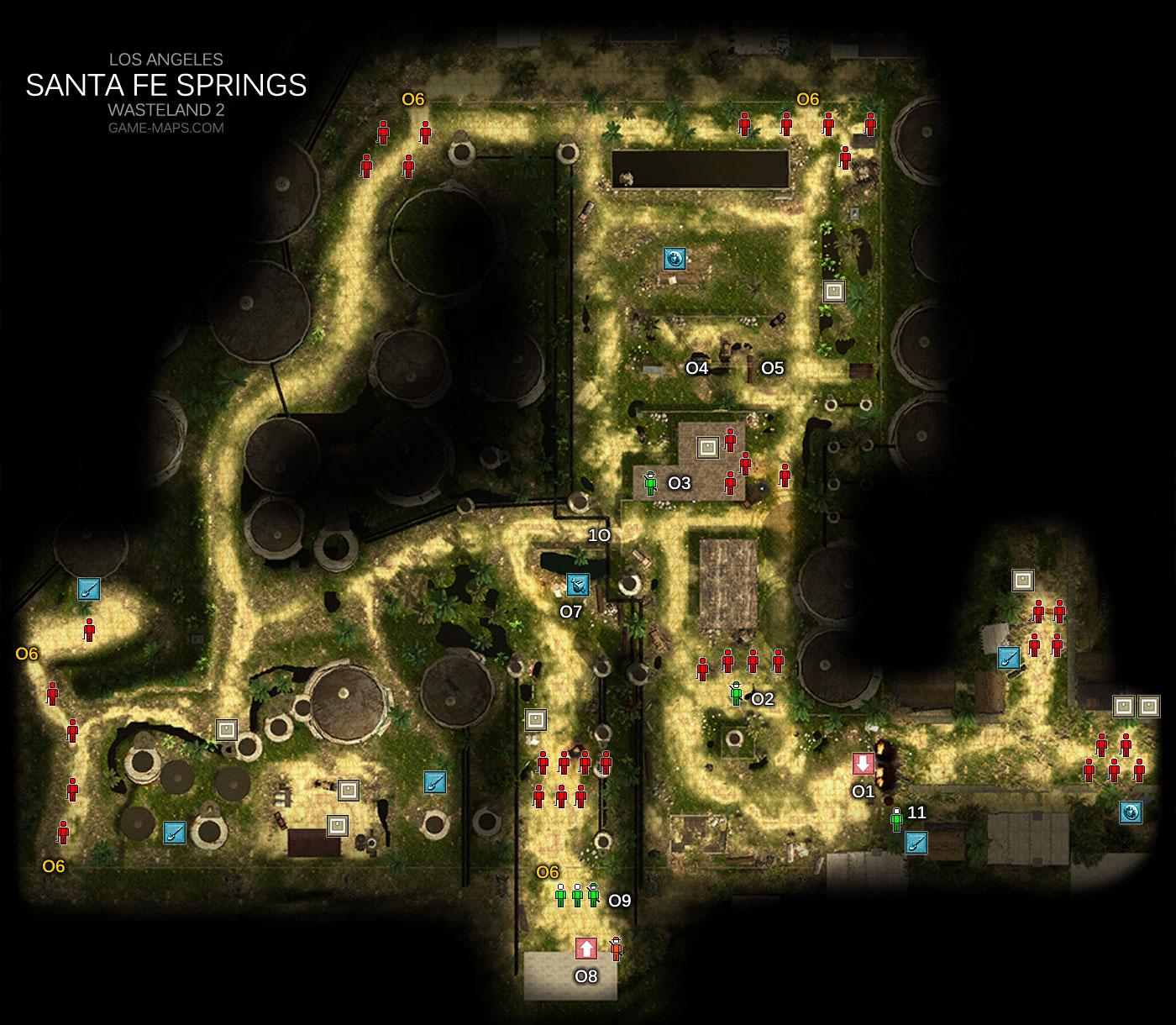 Santa Fe Springs Los Angeles Wasteland 2 Game Maps Com