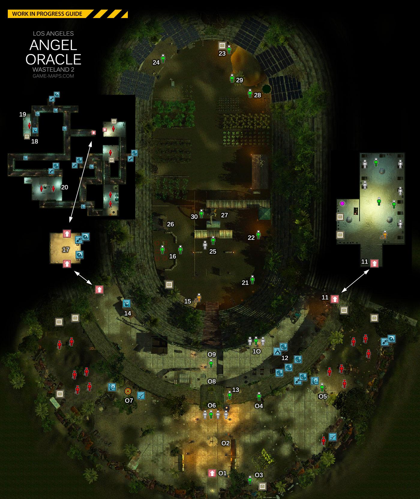 Angel Oracle Los Angeles Wasteland 2 Game Maps Com