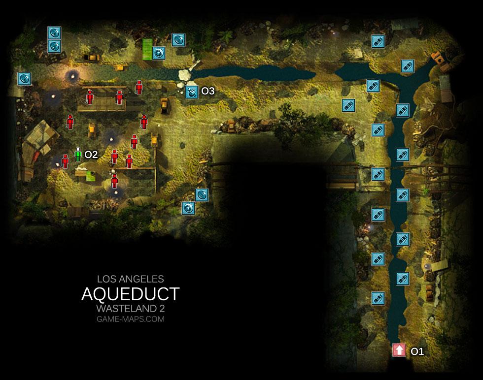 Aqueduct Los Angeles Wasteland 2 Game Maps Com