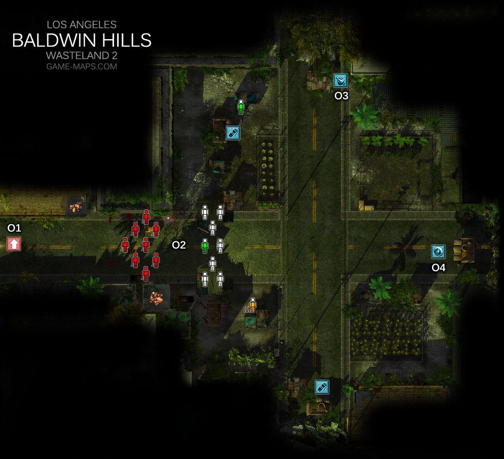 Baldwin Hills Los Angeles Wasteland 2 Game Maps Com