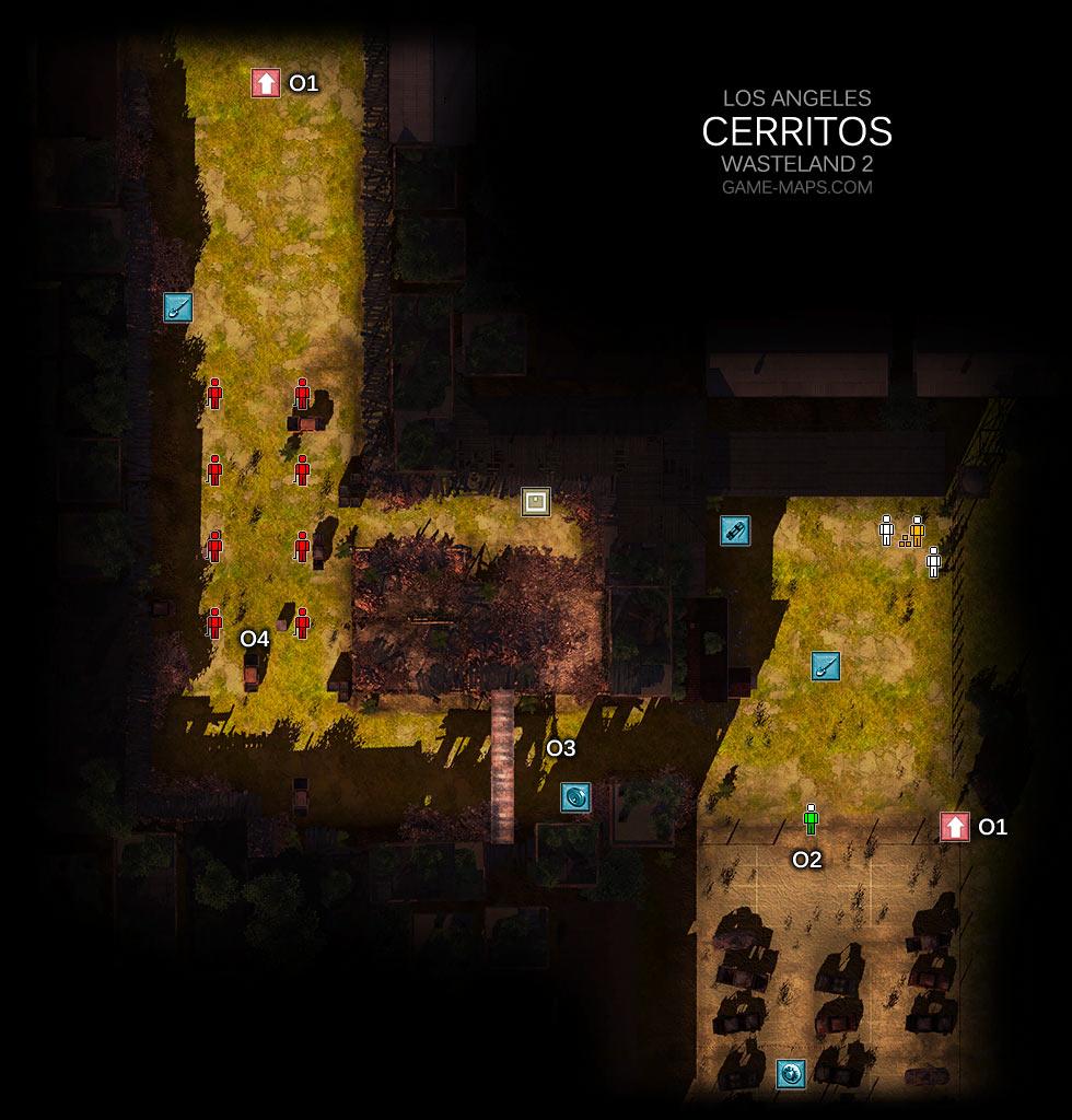 Cerritos Los Angeles Wasteland 2 Game Maps Com