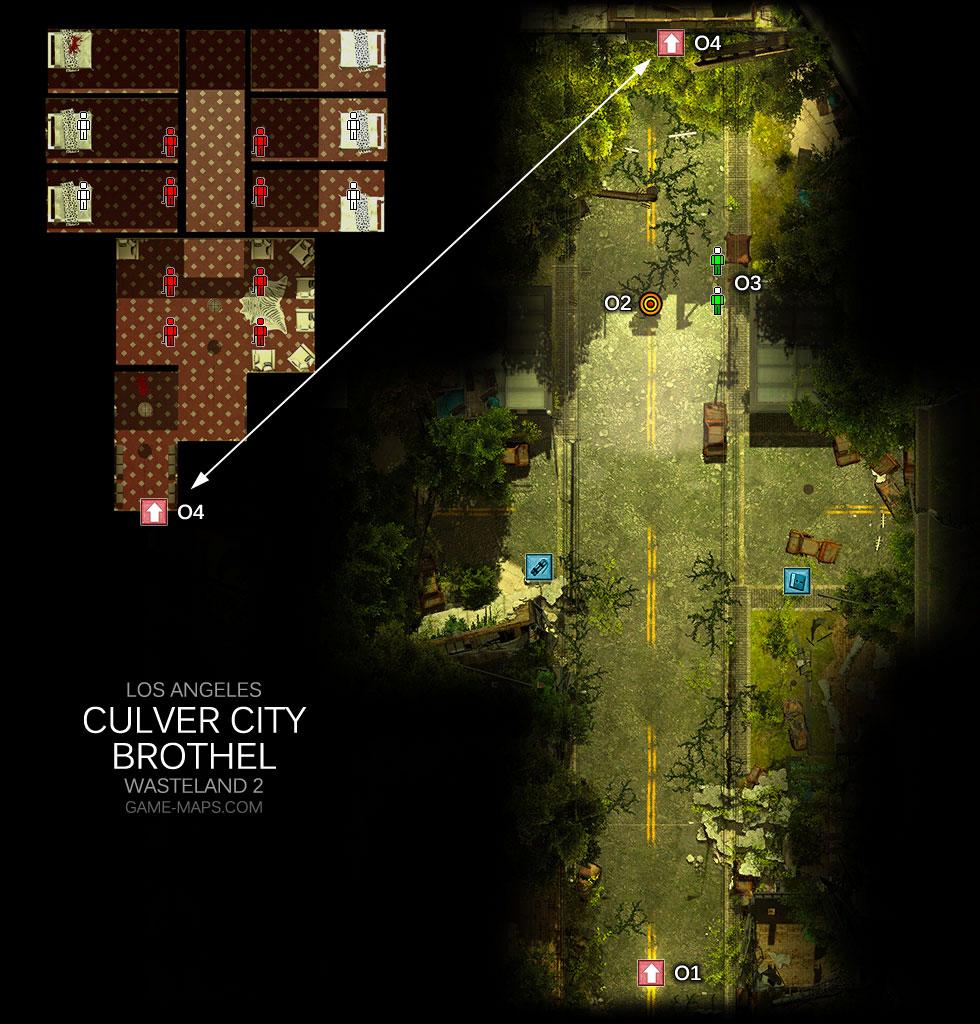 Culver City Brothel Los Angeles Wasteland 2 Game Maps Com