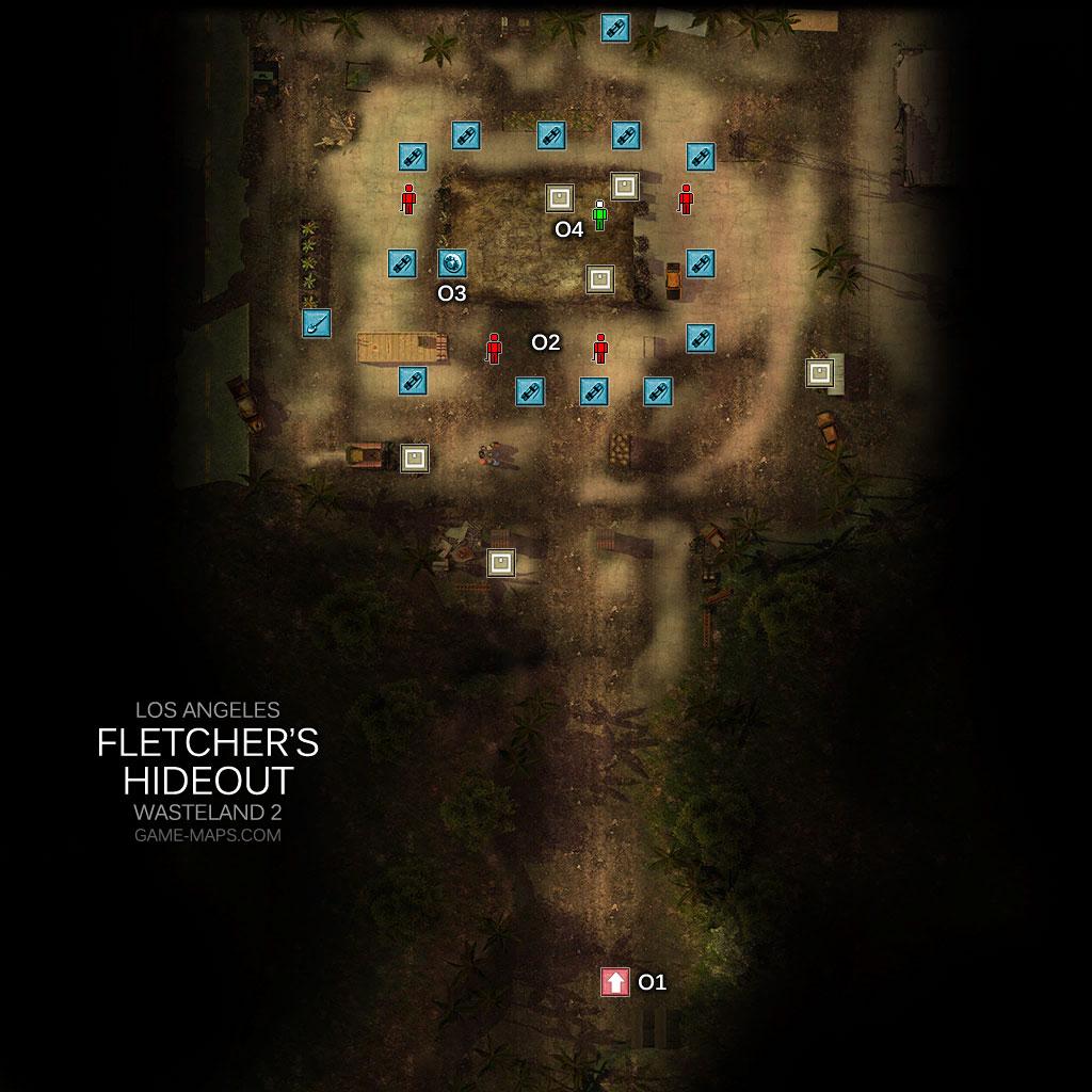 Fletcher S Hideout Los Angeles Wasteland 2 Game Maps Com