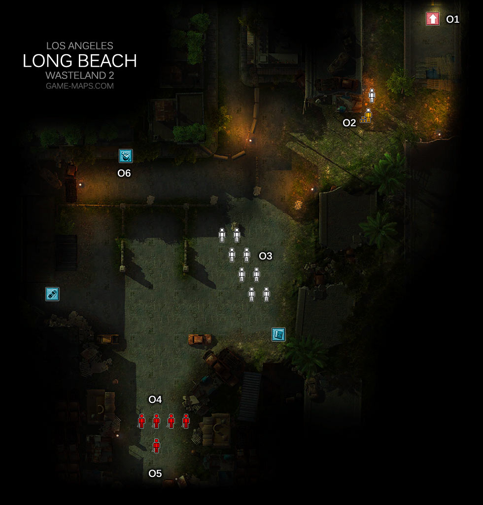 Long Beach Los Angeles Wasteland 2 Game Maps Com
