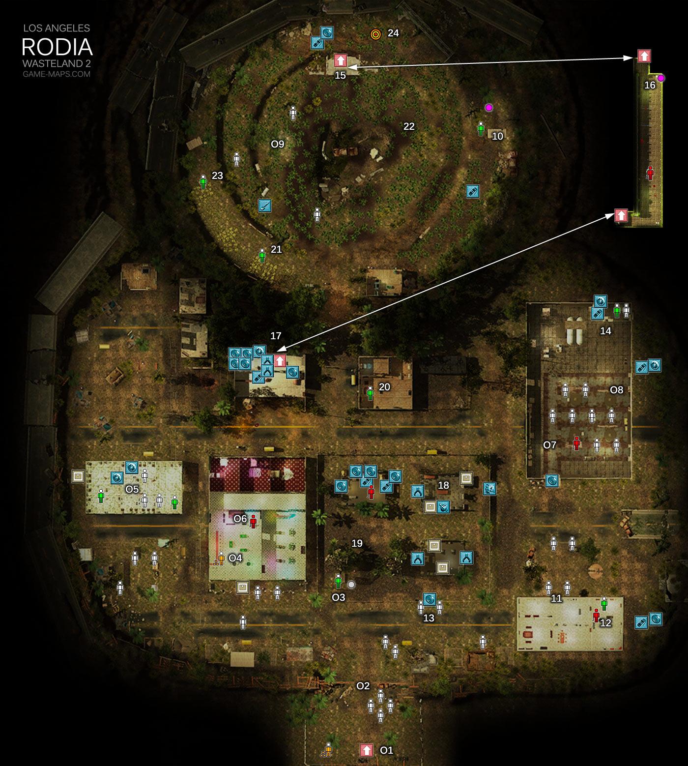Rodia Los Angeles Wasteland 2 Game Maps Com