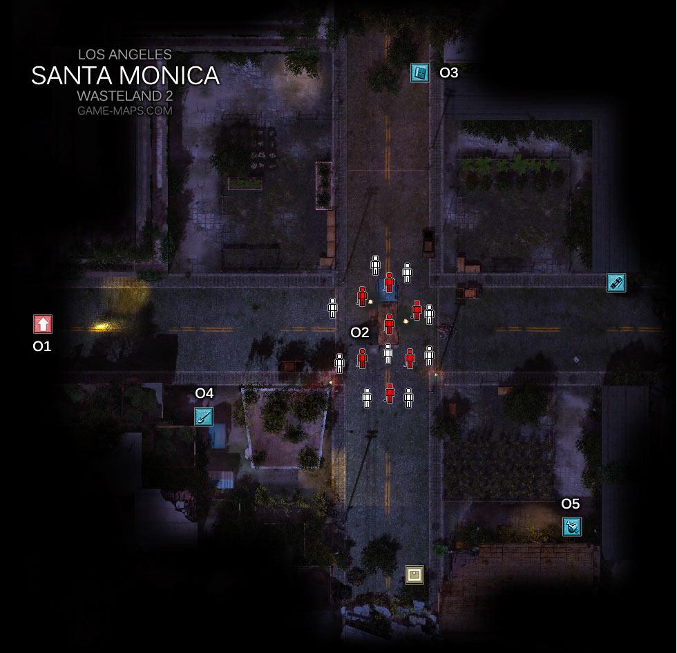 Santa Monica Los Angeles Wasteland 2 Game Maps Com
