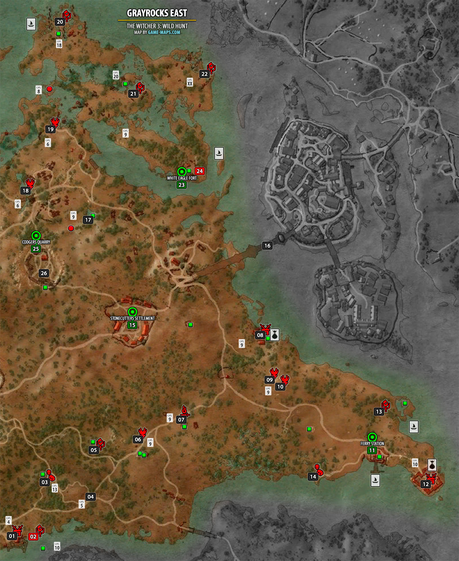 Grayrocks East Map The Witcher 3 Game Maps Com