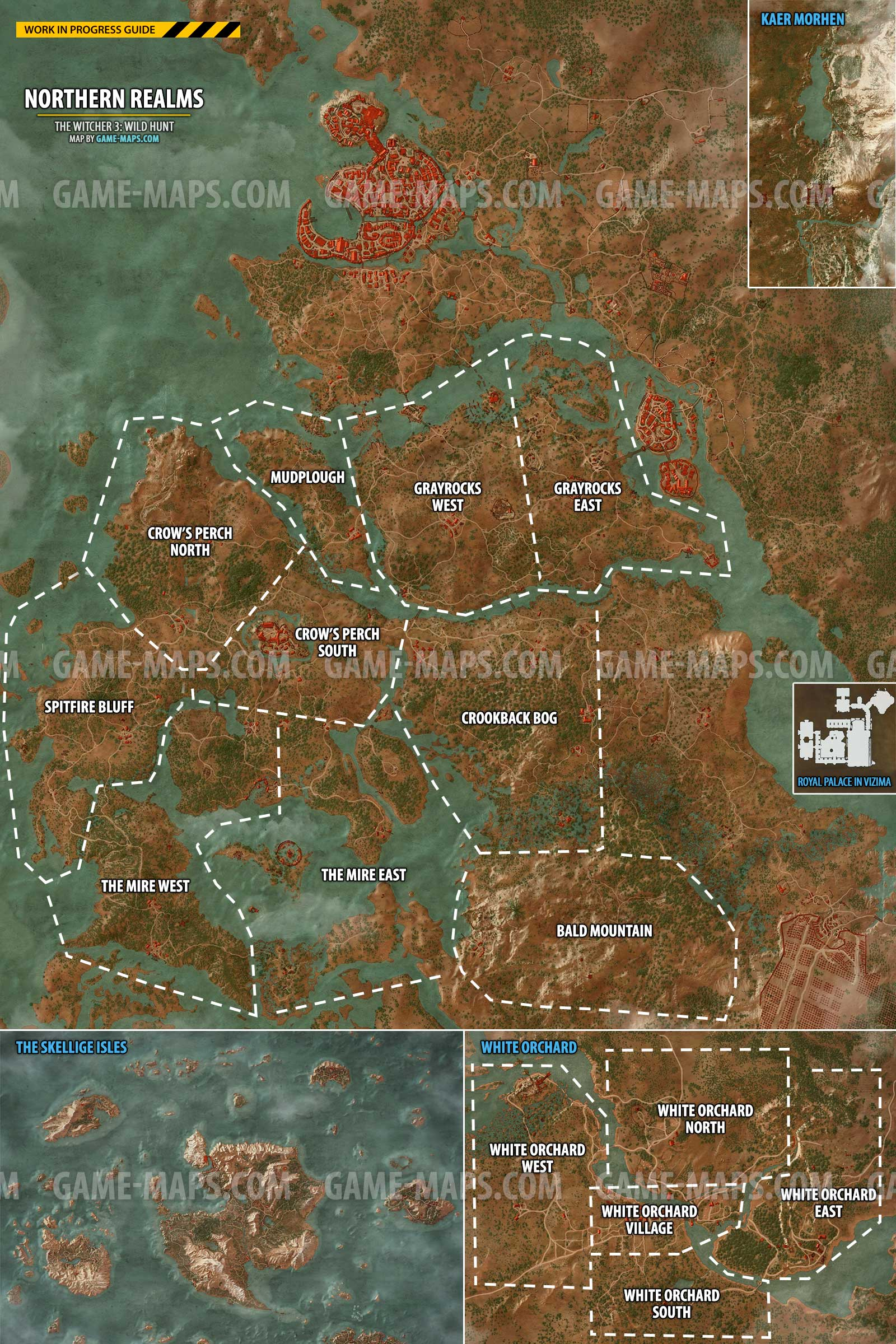 The Witcher 3: Wild Hunt World Map | game-maps.com