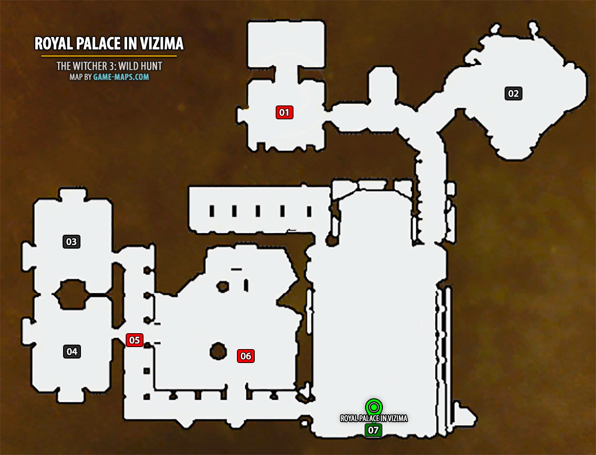 Witcher 3 Velen Karte.Royal Palace In Vizima Map The Witcher 3 Game Maps Com