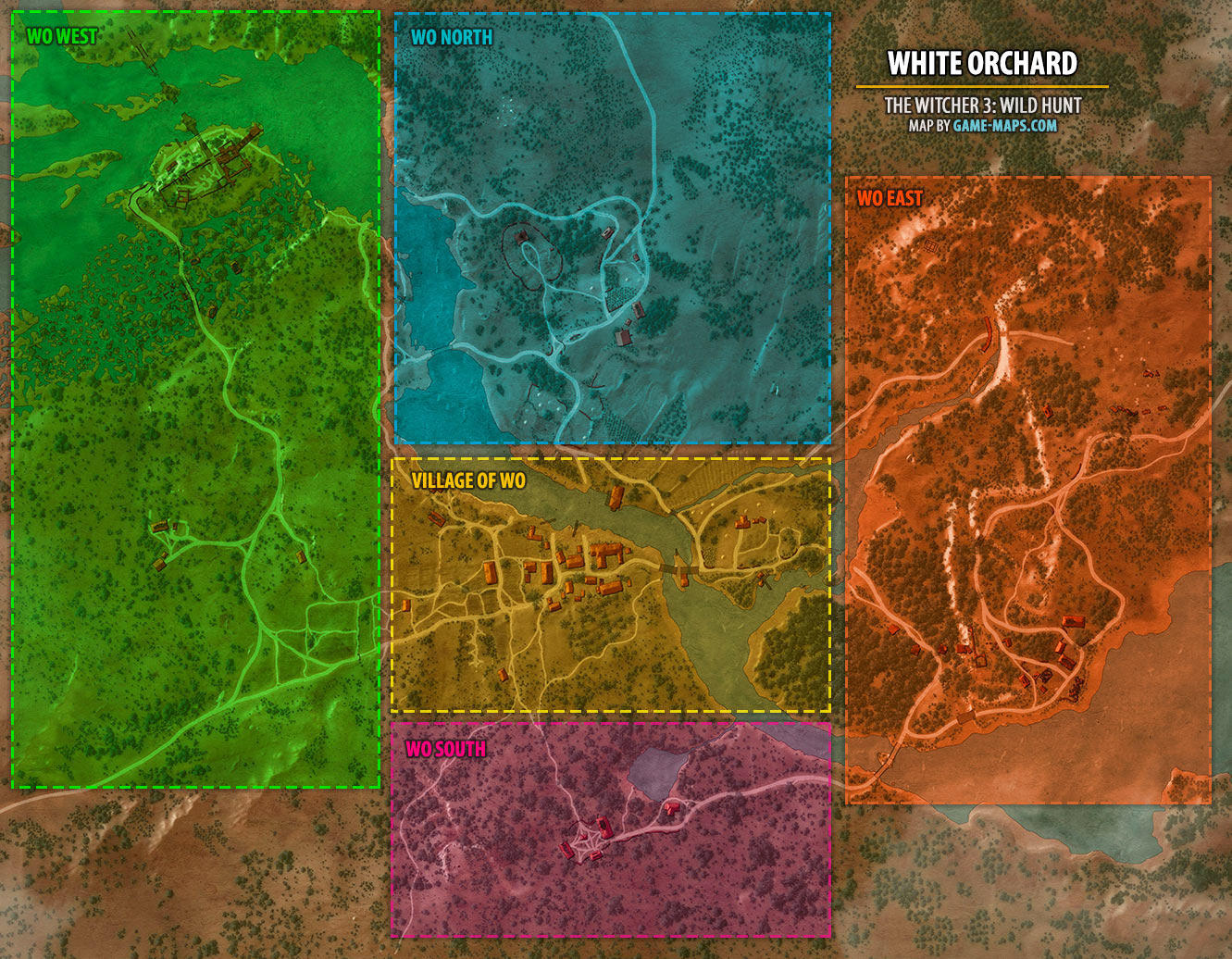 White Orchard Map - The Witcher 3 | game-maps.com