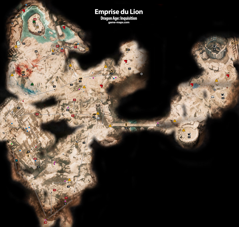 Emprise Du Lion Dragon Age Inquisition Game Maps Com