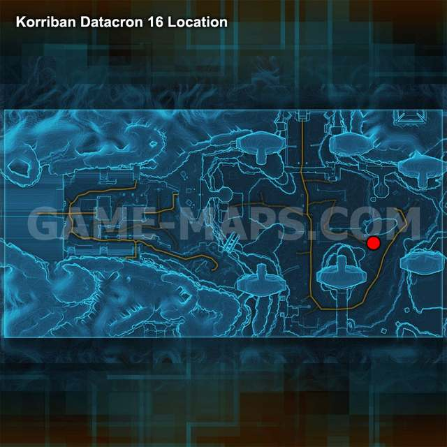 SWTOR Datacron 16 map Korriban