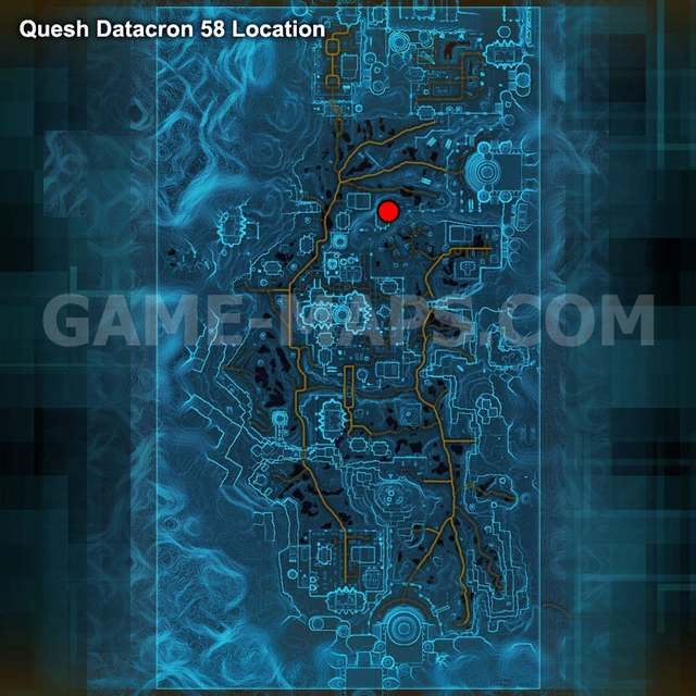 SWTOR Datacron 58 map Quesh